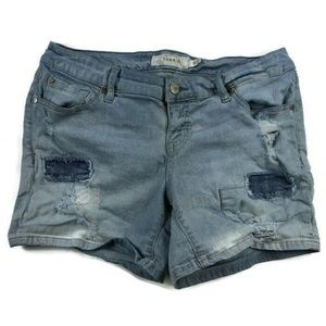 Torrid Distressed Stretch Jean Shorts